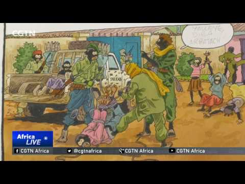 Cartoonist draws on the graphic reality of Central Africa Republic war