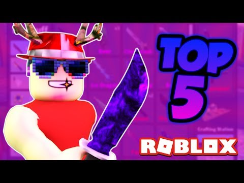 Top 5 COOLEST Knives in MM2!
