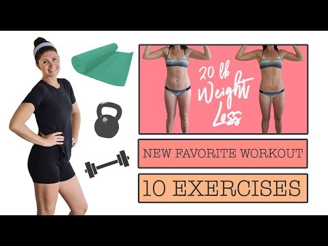 MY NEW FAVORITE Home Workout || Total Body || Weight Loss Update