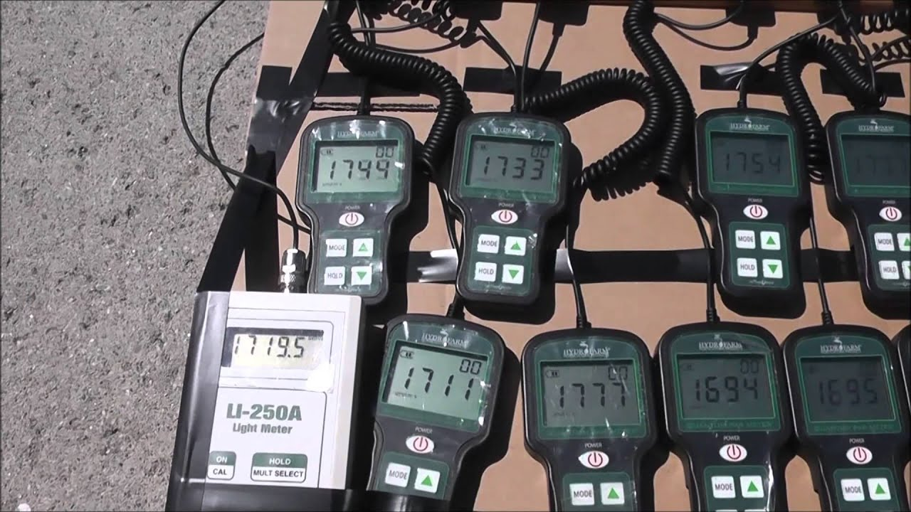 hydrofarm quantum par meter manual