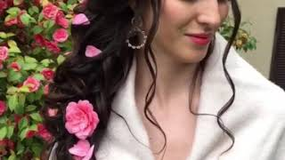 Свадебная причёска Греческая коса набок С Розами