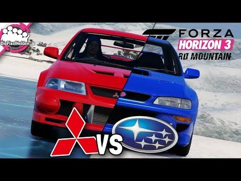 BLIZZARD MOUNTAIN - MITSUBISHI vs SUBARU - MULTIPLAYER - Let's Play Forza Horizon 3