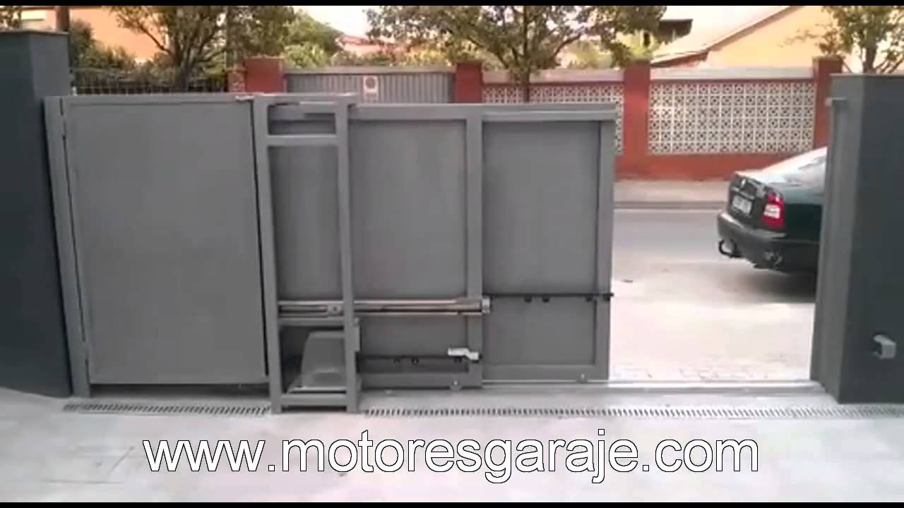 Motor puertra corredera telesc pica youtube for Puertas corredizas de metal