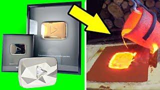Как Делают Золотую Кнопку Youtube?