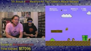 Super Mario Bros. Blindfolded - Classic 5th NES Marathon Moment