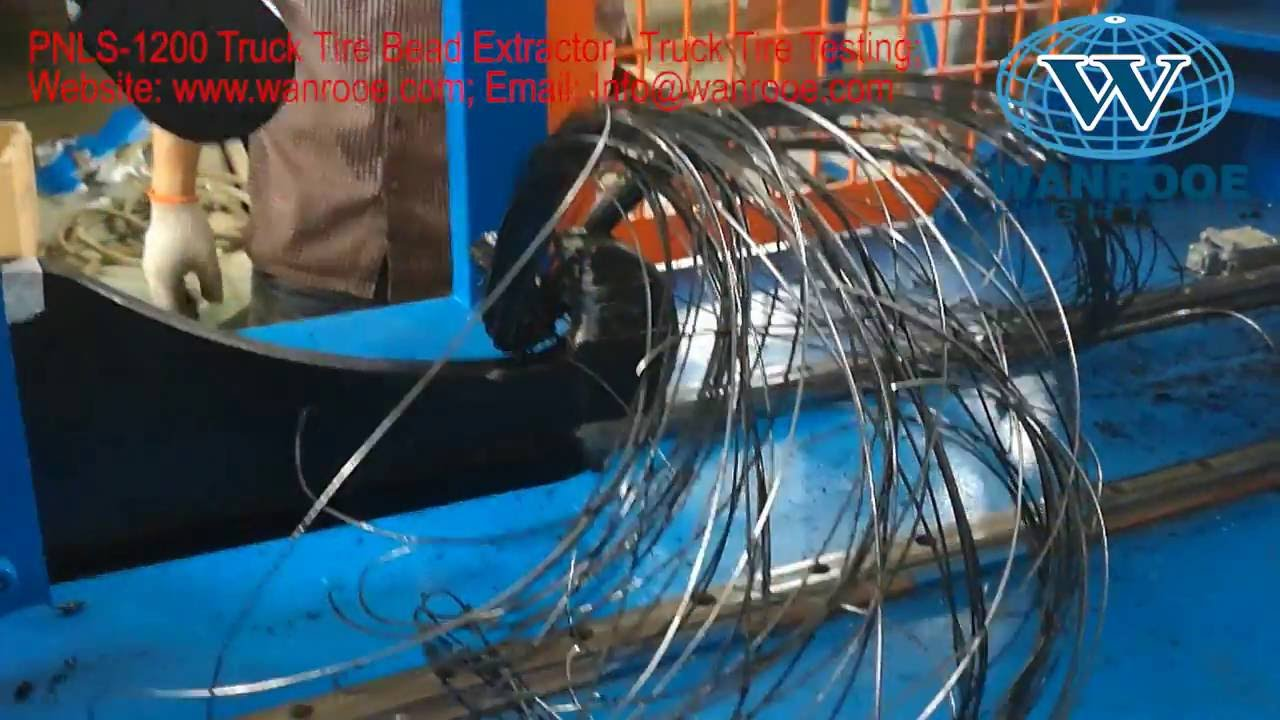 Tire Bead Steel wire Remover,Tire bead extracting machine, Used tire ...