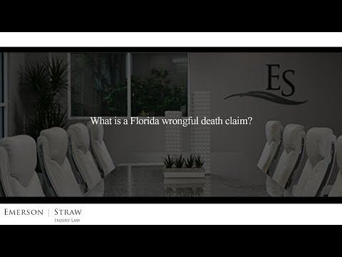 What is a Florida wrongful death claim?