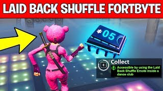ACCESSIBLE BY USING THE LAID BACK SHUFFLE EMOTE INSIDE A DANCE CLUB - Fortnite Fortbyte #5 Location