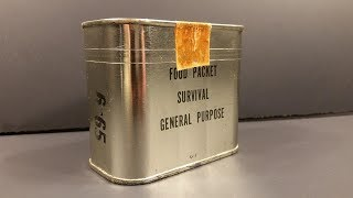 1965 Food Packet Survival General Purpose Ration Emergency Vietnam Pilot MRE Review Taste Test