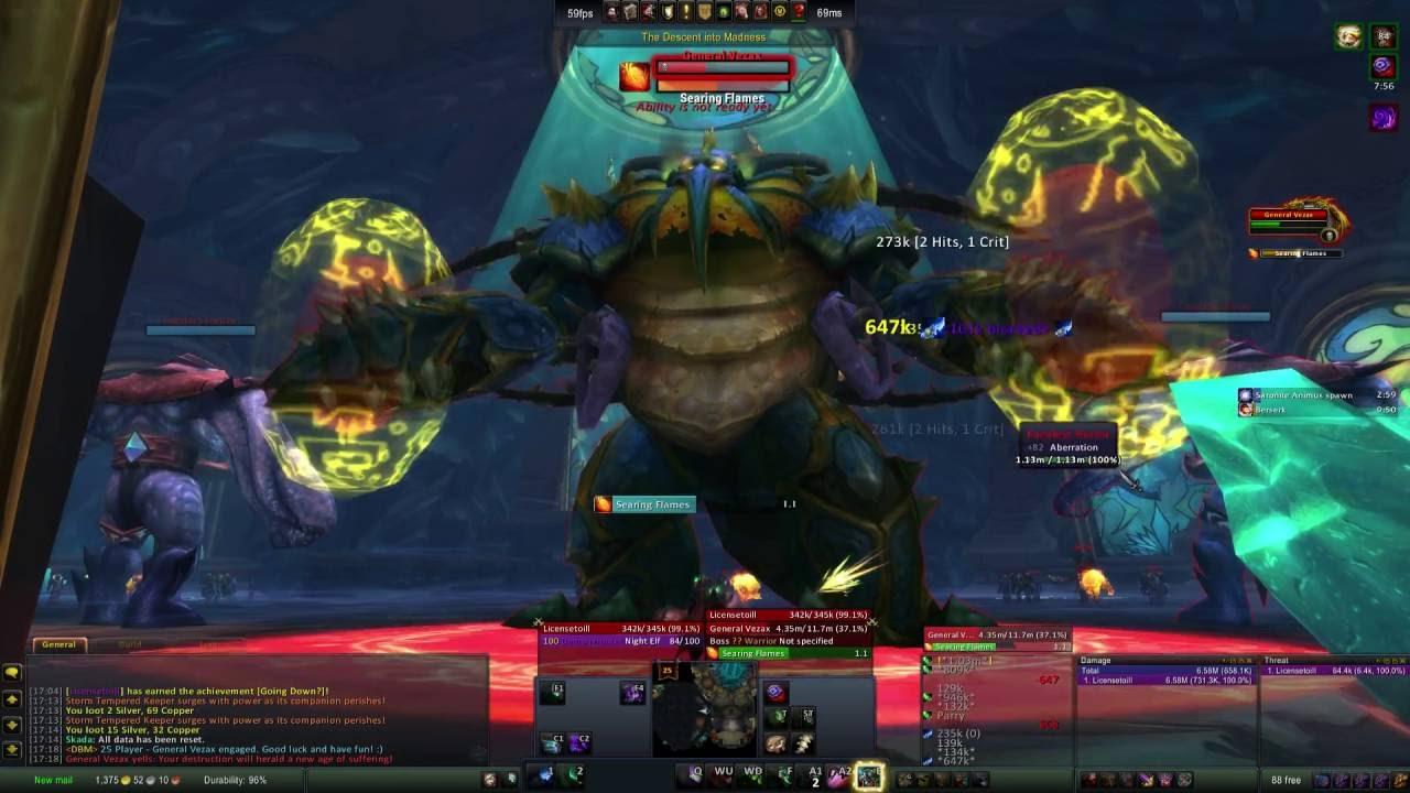 WOW Demon Hunter - Ulduar - Skip to Yogg Saron