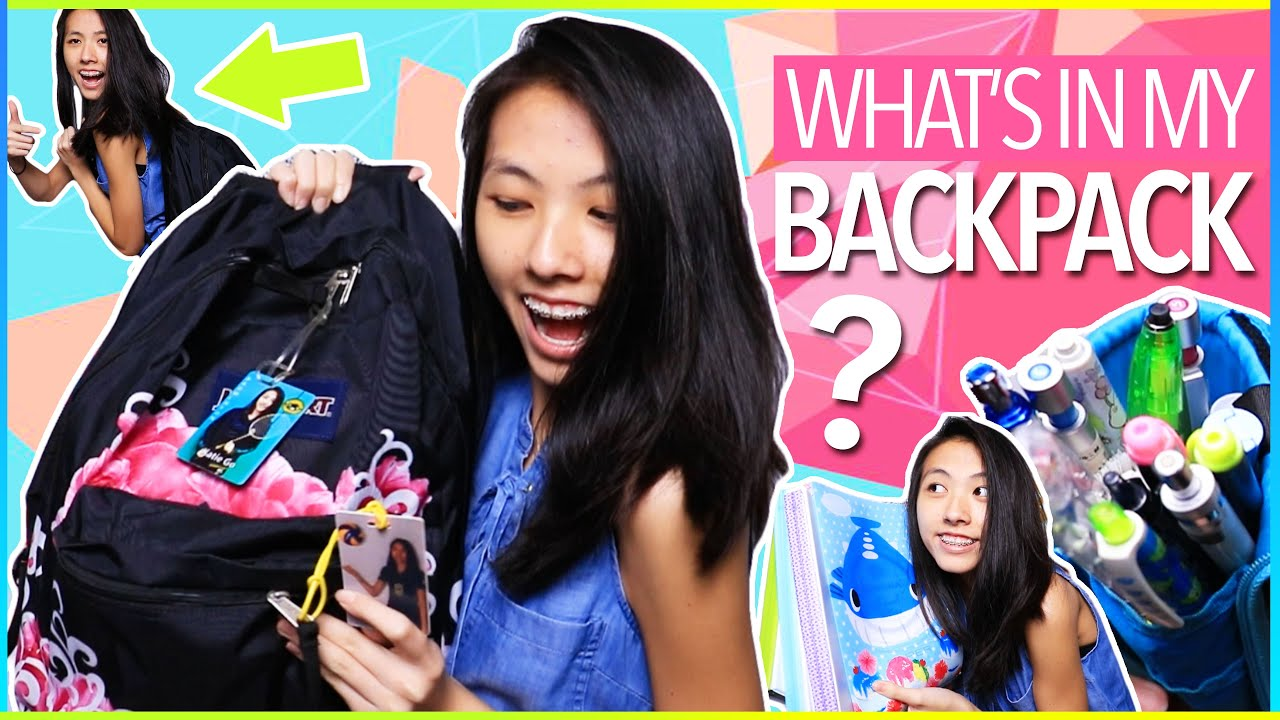 what s in my backpack 2016 17 back to school essentials for