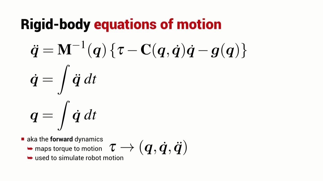 Forward Dynamics | Lesson | Robot Academy