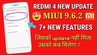 Miui 9.6.2.0 update | Redmi 4 new update miui 9.6.2 | battery performance | miui 9.6.2 Redmi 4
