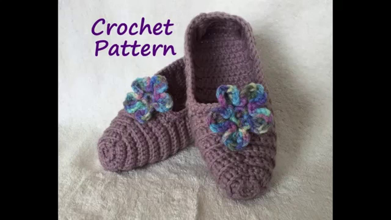 FREE Crocheted Slipper Pattern - Instant Download - YouTube