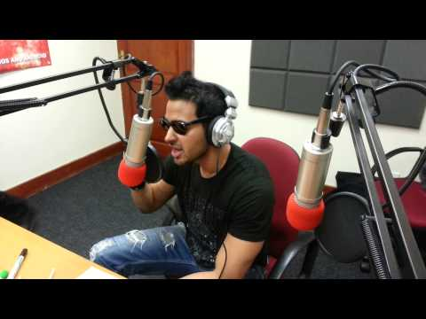 Abbas Hasan singing his new track Away LIVE on Luv Asia Radio