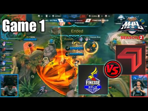 Game1 Cignal VS Finesse Tamang tyempo lang! | MPL-PH S2 Week6 Day1