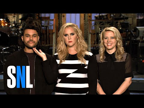 SNL Host Amy Schumer and The Weeknd Are Too Busy For Kate McKinnon