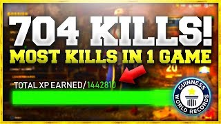 """704 KILLS IN A SINGLE GAME OF WW2! (1.5MIL XP) """"WORLD RECORD"""""""