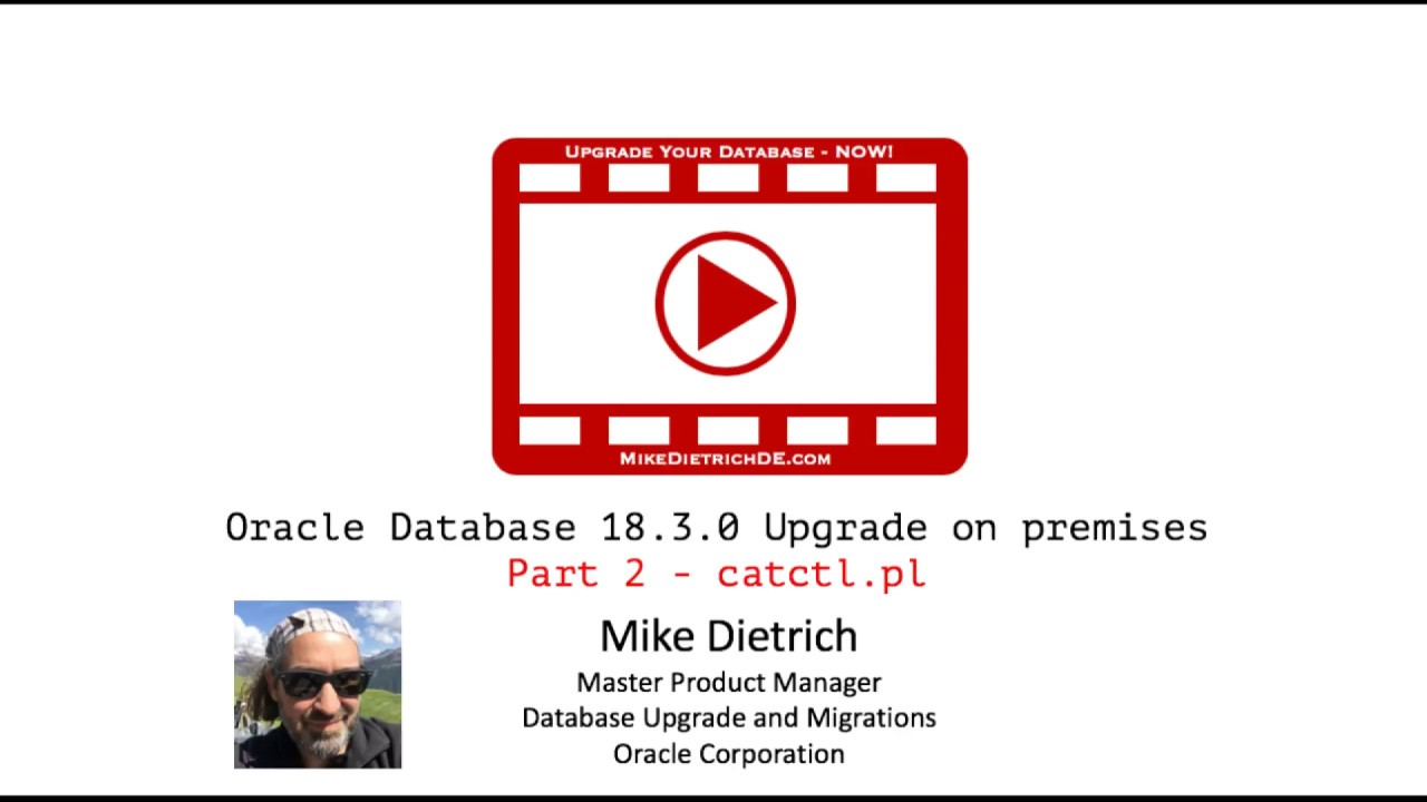 Database Upgrade to Oracle 18c 18 3 0 on premises on the command line with  catctl pl