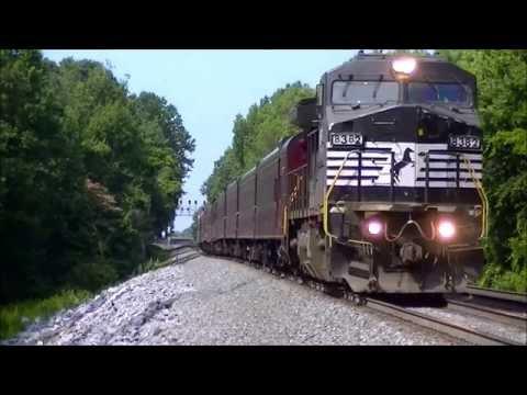 16 Train Wonder-video, Railfanning Salisbury, NC 6/21/14