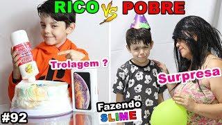 RICO VS POBRE FAZENDO AMOEBA / SLIME #92