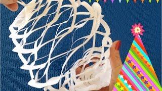 DIY. Ажурный бумажный фонарик. Поделки для Нового года.(Одно из самых простых украшений, которые можно сделать своими руками - это фонарик из бумаги. Яркие и цветны..., 2015-11-06T22:36:07.000Z)