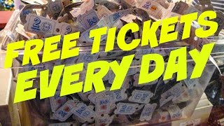 HOW TO GET FREE TICKETS AT DAVE AND BUSTERS