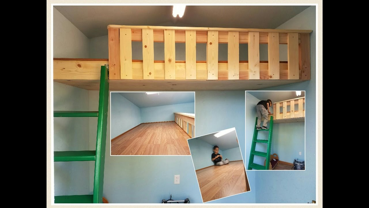 Build a loft bed with no support beams and extras for How to make a loft room