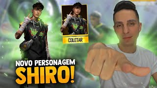 🔥FREE FIRE AO VIVO🔥 NOVO PERSONAGEM SHIRO 🔥 SOLO RANKED🔥 30K DE LIKE ITENS ANGELICAIS🔥