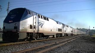 The Amtrak Crescent #19 With Horn Show!! Austell,Ga 09-19-2015©