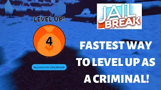 BEST WAY TO LEVEL UP AS A CRIMINAL🦹‍♂️IN ROBLOX JAILBREAK!