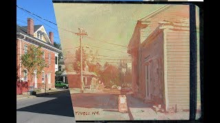 Painting a Street Scene in Warm Colors