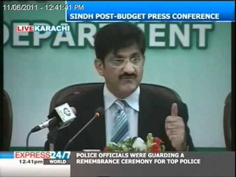 Sindh post-budget press conference