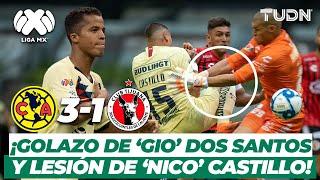 ¡Golazo de Giovani dos Santos y lesión de Nicolás Castillo! | América 3-1 Xolos | TUDN