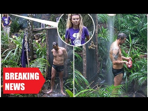 Breaking News - I'm a celebrity's georgia toffolo eyes up jamie lomas as he showers in the jungle