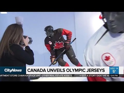 Team Canada unveils Olympic hockey jerseys