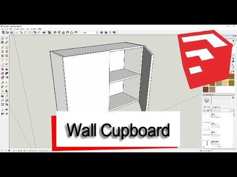 How to draw a Wall Cupboard in SketchUp