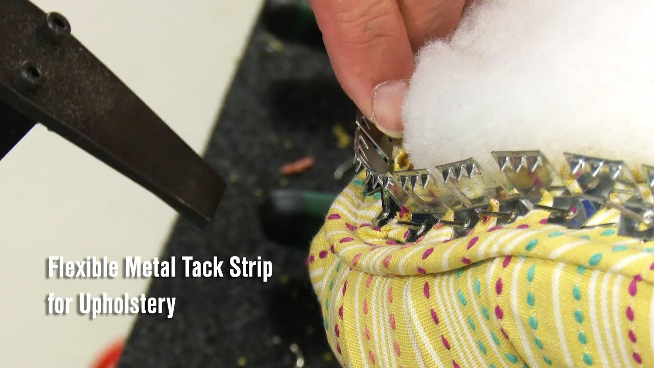 How To Use The Flexible Metal Tack Strip Youtube