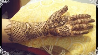 Full hand bridal mehndi design tutorial : mehndi design for hands 2017.