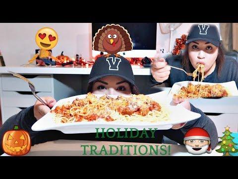 Spaghetti Mukbang | Holiday Tradition
