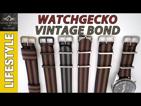 WatchGecko Vintage Bond & Leather Watch Straps Review • Luxury Lifestyle Channel