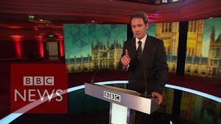 """It's pretty scary"" Stage set for opposition leaders' TV debate - BBC News"