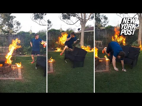Tanner and Drew - Idiot Pours Fuel Directly On Flames