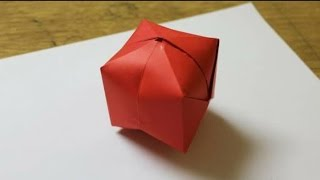 How To Make A Paper Balloon (Water Bomb) - Origami tutorial