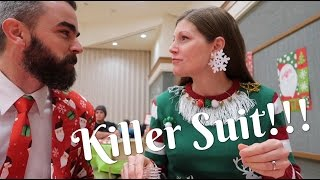 Ugly Sweater Contest Winner & A Killer Suit!!!