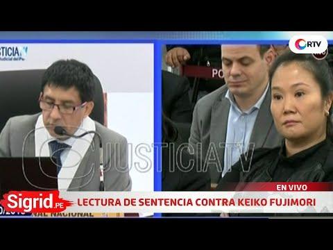Lectura de resolución de prisión preventiva contra Keiko Fujimori en Sigrid.pe