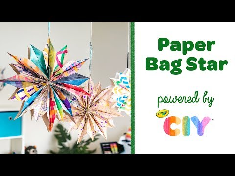 How to Make a Paper Bag Star || Crayola CIY: Create It Yourself