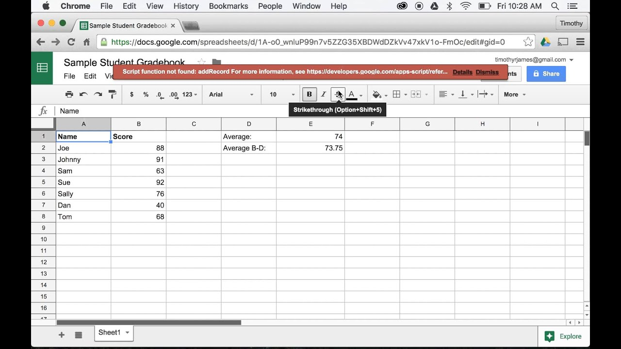 How can I add custom menus in Google Sheets using JavaScript?