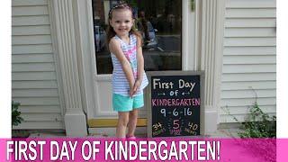 FIRST DAY OF KINDERGARTEN!