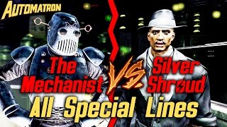 Fallout 4 Automatron DLC - The Mechanist vs Silver Shroud - All Special Lines (Spoilers, duh)